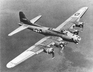 """K pohonu letounu sloužily čtyři hvězdicové motory Wright R-1820-97 """"Cyclone"""", každý o výkonu 895 kW."""