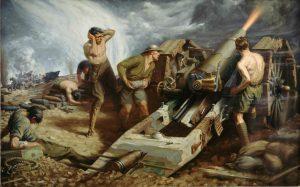 Britské dělostřelectvo způsobí Němcům jen malé škody.