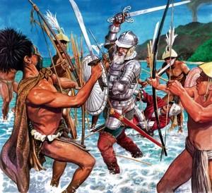 Evropané se pustí s vervou do boje. Na domorodce jim ale síly nestačí.