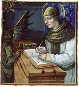Podle legendy pomohl mnichovi slavnou knihu dokončit sám ďábel.