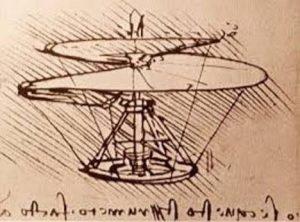 Leonardův nákres vrtulníku: Jsou Leonardovy nápady důkazem toho, že věděl víc než jeho současníci?