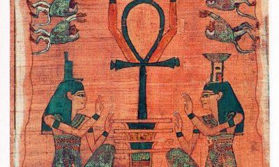 Vyobrazení anchu v egyptské Knize mrtvých.