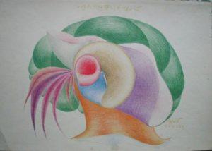 Takto vypadá jedna z kreseb vystavena v novopackém muzeu. Vedly ruku jejího malíře duchové?