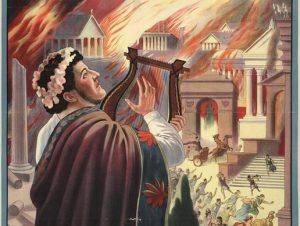 Císař obvinil ze založení požáru některou z mnoha křesťanských skupin.