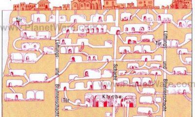 Podzemní města tvoří spletitá síť chodeb a křivolakých schodišť. V jejich prostorách mohli bydlet desítky tisíc lidí.