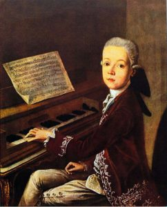 Mozart byl geniální hudebník.