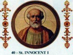 Spoléhal na pomoc haruspiků také papež Inocenc I.?
