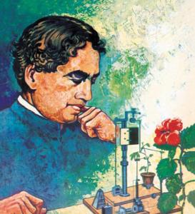 Indický vědec Jagadish Chandra Bose sestavil tzv. crescograph, přístroj na měření růstu rostlin.