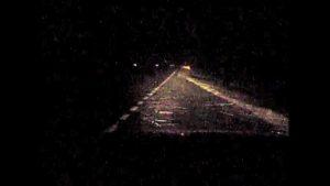 Na silnici E49 se prý ve vánici zjevili duchové.