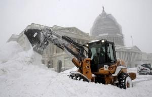Sněhová bouře nedávno zasáhla USA.