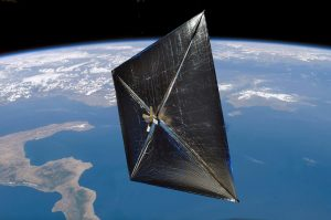 Sluneční plachetnice je kosmická loď, kterou pohání tlak dopadajícího slunečního záření na velkou plochu schopnou odrážet světlo.