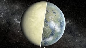 Atmosférický tlak na povrchu Venuše se dnes pohybuje okolo 8 MPa, což je 90× více než na povrchu Země. Před stovkami milionem let, ale mohla být Venuše daleko přívětivější.