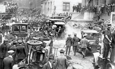 Velká exploze v centru newyorské obchodní třídy Wall Street byla v roce 1920 naprosto nečekaným útokem.