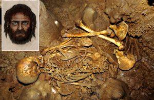 """Prvním známým majitelem modrých očí a """"blonďatého genu"""" byl překvapivě velice snědý muž – lovec, který v období mezolitu obýval španělskou jeskyni La Braña nedaleko dnešního Leónu."""