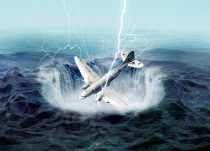 Metanová bublina může způsobit i havárie letadel. Stroj ztratí vztlak a propadne se. Při velké koncentraci metanu v okolí motoru hrozí navíc exploze.