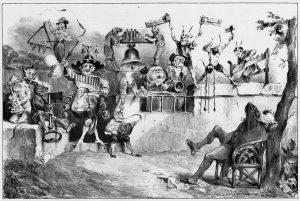 Také v Německu se dochovaly zprávy o provádění šarivari, tam se mu ale říkalo Katzenmusik, což je dodnes výrazem pro kravál.