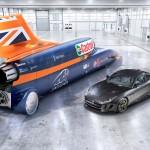 Ve srovnání s normálním sportovním autem je Bloodhound SSC pořádný macek, měří 14 metrů a váží 6 a půl tuny.