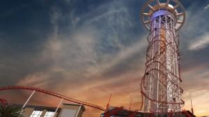 Věž, ze které mají vozíky startovat, bude vysoká 152 metrů. Jízda pak potrvá zhruba čtyři minuty.