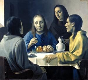 Obraz Kristus a jeho učedníci v Emauzích