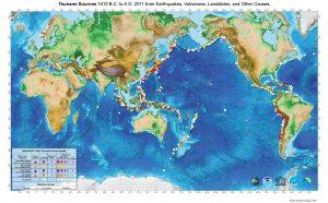 Světová mapa výskytu tsunami ukazuje, která pobřeží ničivé vlny ohrožují nejvíce.