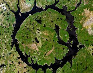 Kráter Manicouagan, Kanada