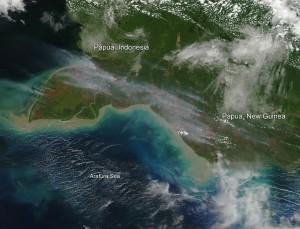 Kvůli neuhasínajícím požárům se v některých městech snížila viditelnost na pouhých 30 metrů. Požáry byly tak rozsáhlé, že byly viditelné i z oběžné dráhy Země.