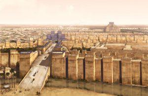 Od Ištařiny brány k hlavnímu chrámu boha Marduka vedla Slavnostní třída. Na délku měřila skoro kilometr a byla přes 20 metrů široká.