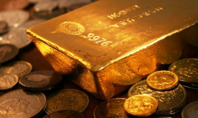 Gold Bars and Coins Wallpaper