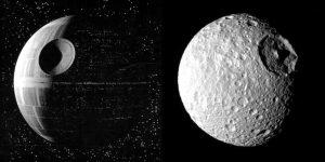 Hvězda smrti a Mimas.