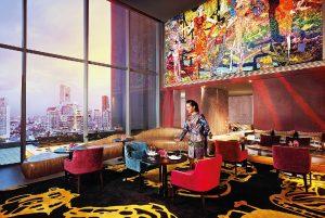 Interiéry v So Sofitel hotelu v Bangkoku jsou zařízeny v duchu pěti elementů.