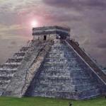 Jedna z aztéckých pyramid