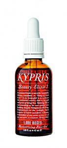 Kypris Beauty Elixir I s hojivým účinkem obsahuje koenzym Q10 a olej z více než tisíce bio bulharských růží.