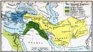 Lýdie a Médská říše byly až do 6. století př. n. l. nejmocnějšími impérii na Blízkém východě