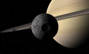 Mimas a Saturn