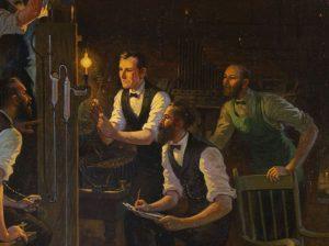 Mnozí vynálezci jsou žárovce na stopě. Edison nápad dotáhne k dokonalosti.