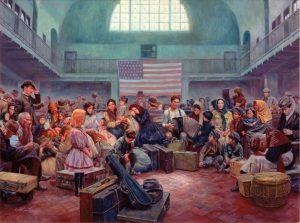 Na Ellis Islandu se rozhodne o jejich dalším osudu. Přijímací kritéria jsou přísná.