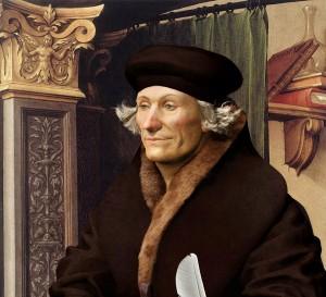Nizozemský myslitel Erasmus Rotterdamský vyučuje i královské potomky.