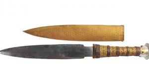 Vysoká kvalita čepele dýky je důkazem, že egyptští mistři věděli, jak meteoritický kov zpracovávat.