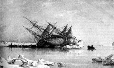 Rytina zachycující ztroskotanou HMS Terror