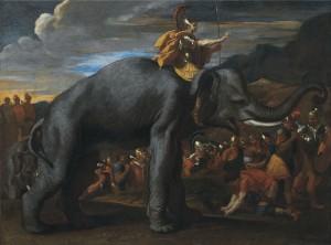 Hannibalův přechod Alp na obraze francouzského malíře Nicolase Poussina (1594–1665).