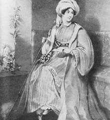"""Ve starověké Palmýře v dnešní Sýrii dali místní beduíni lady Stanhopeové přezdívku """"Královna pouště""""."""