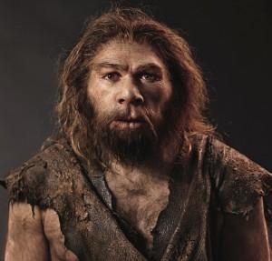 Umělecká rekonstrukce tváře neandertálského muže.