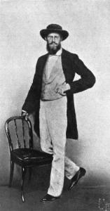Fotografie zachycující Wallace v Singapuru v roce 1862.