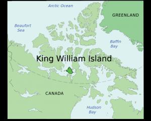 HMS Terror byla objevena u jižního pobřeží Ostrova krále Viléma