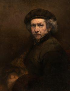 Rembrandtův autoportrét z roku 1659, který je vystaven v National Gallery of Art ve Washingtonu D.C.