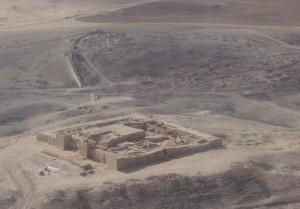Pevnost Arad, kde byly nalezeny úlomky keramiky popsané starověkou hebrejštinou.