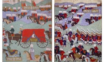 Pohřeb Sulejmana I. zachycený v knize Dějiny sultána Sulejmana, která byla sepsána na příkaz jeho vnuka Murada III. (1546 - 1595).
