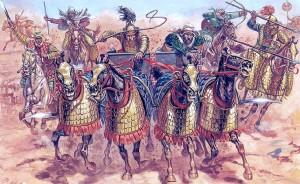 Rozhodujícího vítězství dosáhne Alexandr v říjnu 331 př. n. l. u Gaugamél. Persie mu leží u nohou.