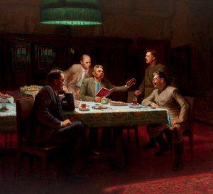 Sám Stalin na večírcích moc nepije. Rád ale opíjí druhé.