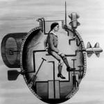 Stroj Davida Bushnella vydrží pod hladinou asi 30 minut.